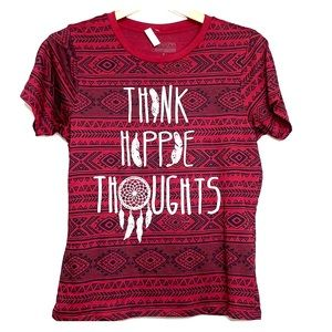 NWTs FREEZE • Think Hippie Thoughts Maroon Tee